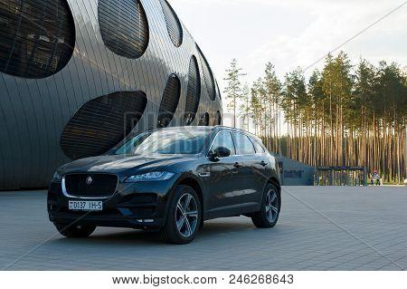Borisov, Belarus - May 09, 2018: Powerful Car In The Parking Lot