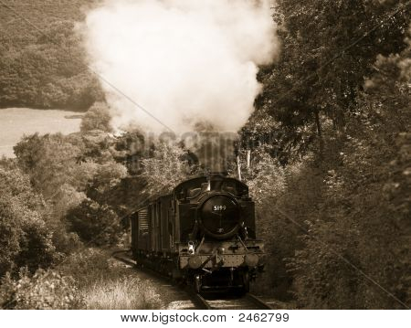 Steam Train In Sepia45