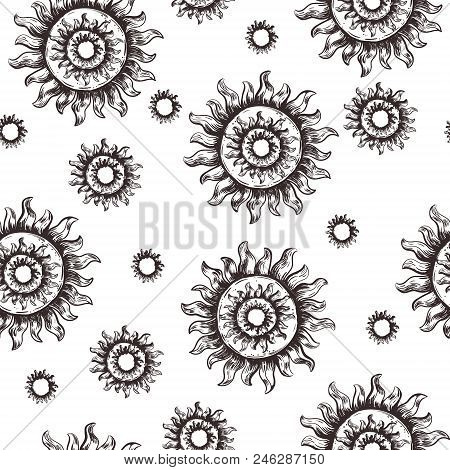 Seamless Pattern Sun Vector Photo Free Trial Bigstock