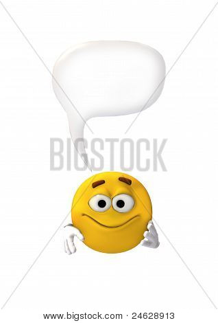 yellow emotion face with speech bubble
