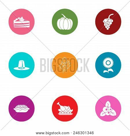 Victuals Icons Set. Flat Set Of 9 Victuals Vector Icons For Web Isolated On White Background