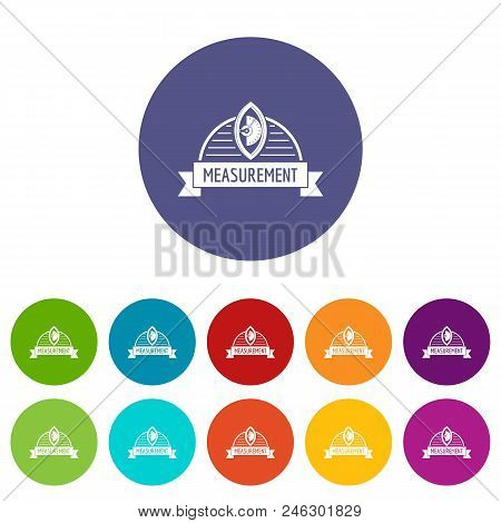 Scales Icons Color Set Vector For Any Web Design On White Background