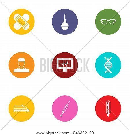 Medical Surveillance Icons Set. Flat Set Of 9 Medical Surveillance Vector Icons For Web Isolated On