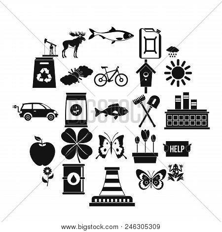 Natural Resources Icons Set. Simple Set Of 25 Natural Resources Vector Icons For Web Isolated On Whi