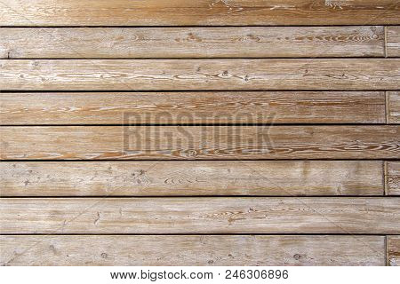 The Texture Of The Boards. Wooden Wall Of The House. A Fence Made Of Boards. Wooden Floor Natural