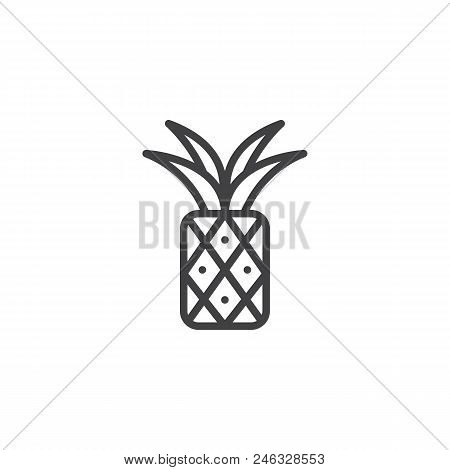 Pineapple Outline Vector Photo Free Trial Bigstock