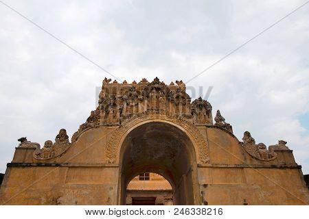 Maratha Entrance, First Entrance, Brihadisvara Temple, Tanjore Tamil Nadu India