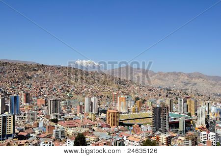 City Of La Paz Bolivia From Killi Killi Viewpoint