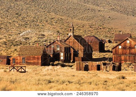 Ghost town preserve in Bodie California