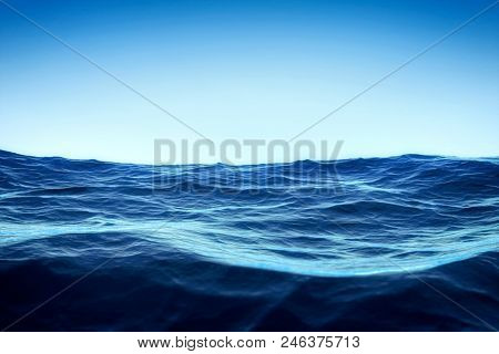 An image of the blue sky over the ocean