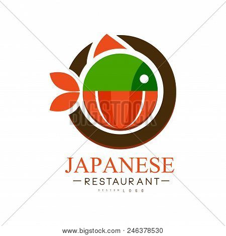 Japanese Restaurant Logo Design, Authentic Traditional Continental Food Label Can Be Used For Cafe,
