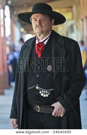 A Stoic Wyatt Earp Of Helldorado, Tombstone, Arizona