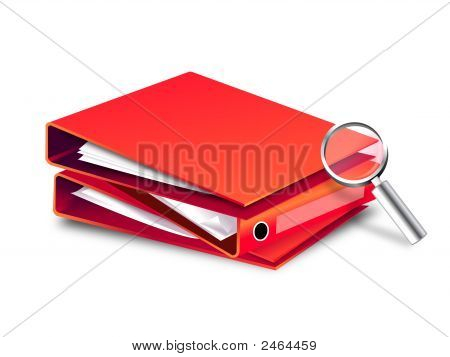 File Foldermagnifying Glass