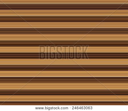 Background Of Shades Of Brown Stripes In Varying Widths. Muted Light Colors Recede For An Illusion O