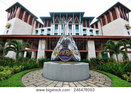 Singapore -23 Jun 2018: : Hard Rock Hotel Sentosa. Hard Rock Hotel Is A Resort Hotel Located Within