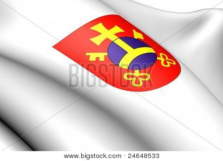 Ostrow Wielkopolski coat of arms Poland. Close up. poster