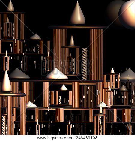 Computer Generated 3d Fractal.world Of Fantasy.fantastic Design.fractal Structure.digital Design.cit