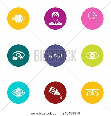 Impact on vision icons set. Flat set of 9 impact on vision vector icons for web isolated on white background poster