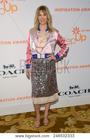 LOS ANGELES - JUN 01:  January Jones arrives to the Inspiration Awards Benefitting Step Up  on June 1, 2018 in Hollywood, CA