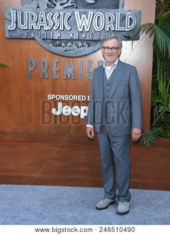 LOS ANGELES - JUN 12:  Steven Spielberg arrives for the 'Jurassic World: Fallen Kingdom' Los Angeles Premiere on June 12, 2018 in Los Angeles, CA