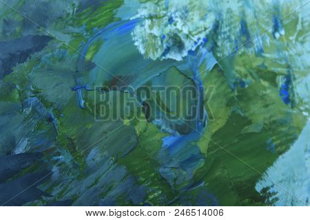 Abstract Blue Wall.blue Paint On A Stone Surface.abstract Blurred Colorful Background.wall Texture G