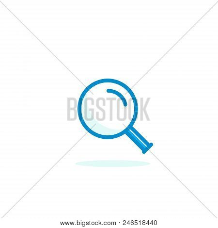Magnifying Glass Icon, Vector Magnifier Loupe Sign Isolated Simple Search Symbol.