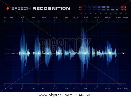 Speech Recognition, Blue Waveform
