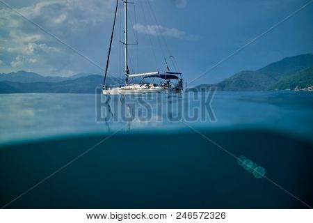 yacht and sea
