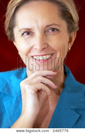 Attractive Middle-Aged Businesswoman