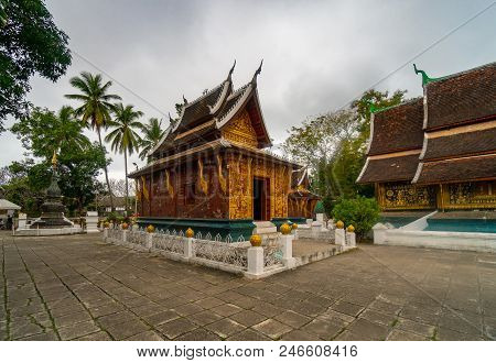 Wat Xieng Thong (golden City Temple) In Luang Prabang, Laos. Xieng Thong Temple Is One Of The Most I