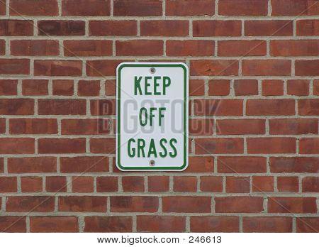 Keep Off Grass Warning