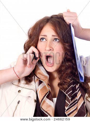 Horrified Business Woman