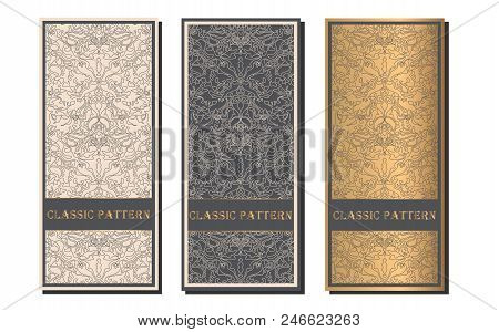 Vector Decorative Frame. Elegant Element For Design Template, Place For Text.floral Border. Lace Dec