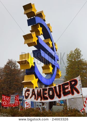 Occupy Frankfurt Protests