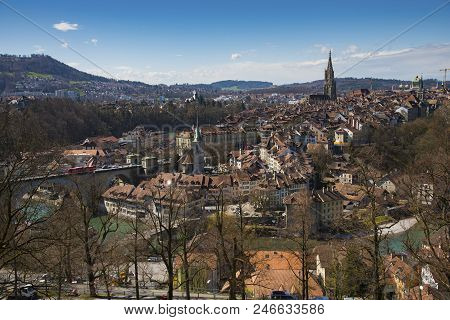 Old Town Of Bern From Top View, Capital Of Switzerland