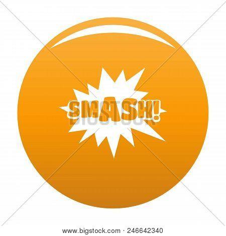 Comic Boom Smash Icon. Simple Illustration Of Comic Boom Smash Vector Icon For Any Design Orange
