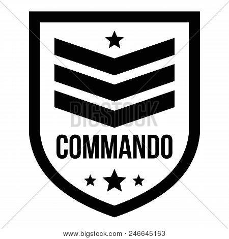 Commando Badge Logo. Simple Illustration Of Commando Badge Vector Logo For Web Design Isolated On Wh