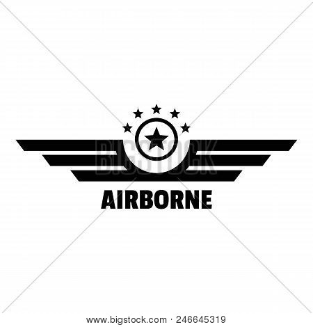 Airborne Logo. Simple Illustration Of Airborne Vector Logo For Web Design Isolated On White Backgrou