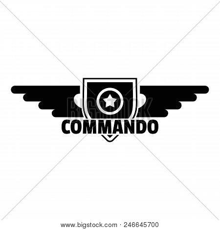 Commando star logo. Simple illustration of commando star vector logo for web design isolated on white background poster