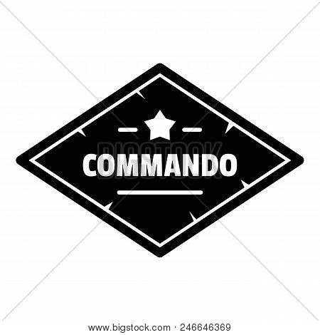 Commando Troop Logo. Simple Illustration Of Commando Troop Vector Logo For Web Design Isolated On Wh