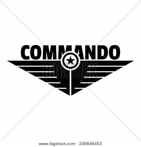 Commando Logo. Simple Illustration Of Commando Vector Logo For Web Design Isolated On White Backgrou