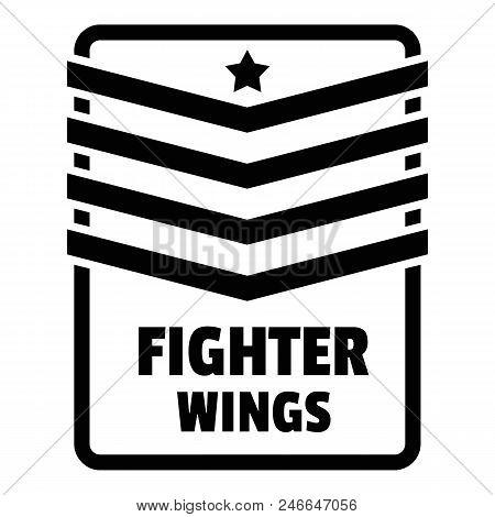 Fighter Troop Wings Logo. Simple Illustration Of Fighter Troop Wings Vector Logo For Web Design Isol