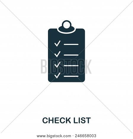 Check List Icon. Line Style Icon Design. Ui. Illustration Of Check List Icon. Pictogram Isolated On