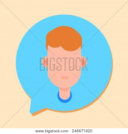 Callcenter Man Support Online Operator, Customer And Technical Service Icon, Chat Concept, Flat Desi