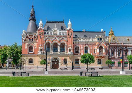 The Greek Catholic Bishop Palace In The Center Of Oradea, Romania, Crisana Region.