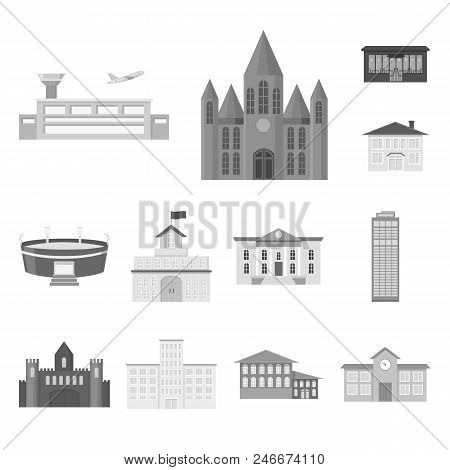 Building Repair Monochrome Icons In Set Collection For Design.building Material And Tools Vector Sym
