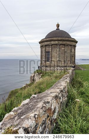 A View Of The Mussenden Temple At Downhill.