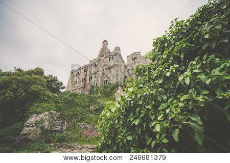 Mount St Michael Island Fortress And Gardens, Marazion Near Penzance, Cornwall, Uk
