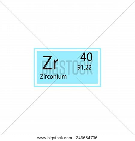 Periodic table vector photo free trial bigstock periodic table element zirconium icon element of chemical sign icon premium quality graphic design urtaz Image collections