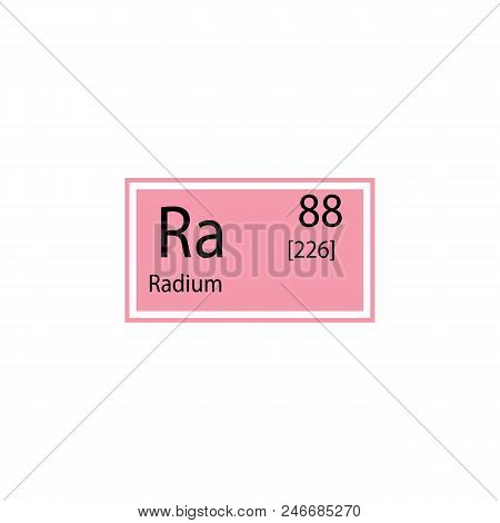 Periodic table element radium icon. Element of chemical sign icon. Premium quality graphic design icon. Signs and symbols collection icon for websites, web design, mobile app on white background poster